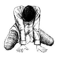 43288495 - human emotion sketch, sad girl hand drawn on white background
